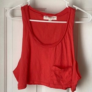 Urban Outfitters Red Cropped Muscle Tee- SMALL